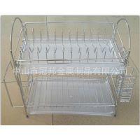 供应双层不锈钢碗碟架碗盘沥水架锅盖架厨卫置物架开发加工服务