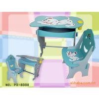 供应童桌、童椅 外贸桌椅 阳光七彩酷狗书桌