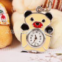 韩版饰品毛衣挂件卡通手表 钥匙扣装饰表 可爱卡通熊猫配件饰品