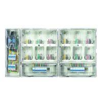 防窃配电箱 单相十二位电表箱 小区透明12户电表箱