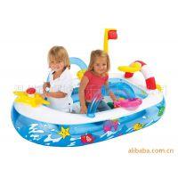 厂销充气产品,迷你趣味船球池,pvc薄膜,儿童园乐