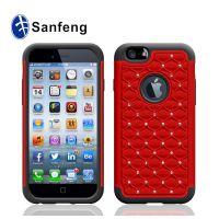 【低价混批】iPhone6/6s满天星手机壳 硅胶+pc三合一贴钻手机套