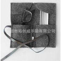 [厂家直销]各种毛毡笔袋 大促销低产毛毡袋