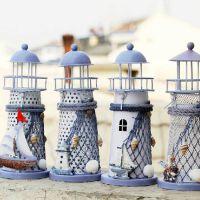 家居饰品摆件 地中海风格 创意 铁艺 手工制作灯塔 烛台 婚庆礼品