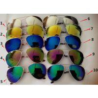 3026款式 飞行员太阳眼镜 雷朋款式 太阳镜蛤蟆镜 多彩水银镜片