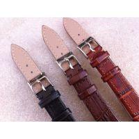供应现货 超薄真皮表带 女士手表带 小牛皮带16-22MM 代用于浪琴
