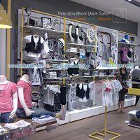 供应童装店铺货架展柜,烤漆展柜在广州展柜厂生产balabala品牌