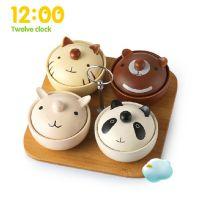12:00 创意碗甜品碗儿童可爱卡通碗小汤碗套装 陶瓷餐具冰淇淋碗