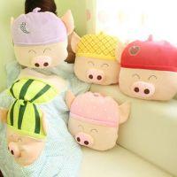 新款可爱麦兜猪空调被可爱卡通抱枕被子两用靠垫汽车靠枕被子批发