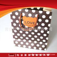 厂家定制 白板纸哑光膜服装手提纸袋 韩版创意礼品纸袋