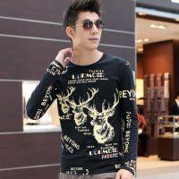 2014新款男装韩版上衣棉打底衫男士长袖t恤 网店代理 一件代发