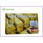 Real Capacity 2gb / 4gb / 8gb  16gb 32gb GOLD Credit Card shape USB Storage Deivce
