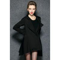2014欧洲站女装 秋装新款女式修身欧美风衣女装外套