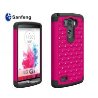 高质量 LG G3手机保护套 三合一点钻防摔壳 满天星水钻手机壳