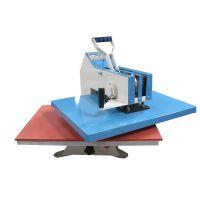 工厂直销服装印花加工热转印机 高压热烫印平板手动摇头烫画机