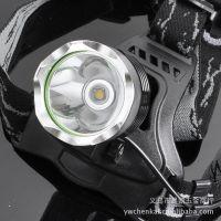 T6强光充电LED头灯 黄光灯 打猎灯 钓鱼灯 T6-002B