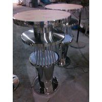 不锈钢办公家具茶几 玫瑰金不锈钢酒柜价格 不锈钢吧椅 吧台