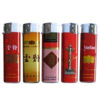 厂家定做印刷LOGO广告包烟标图案的一次性塑料打火机促销火机