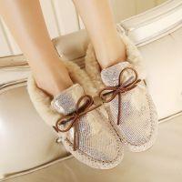 2014冬季新款重磅推出爆版升级金皮真皮内里羊毛保暖豆豆棉鞋批发