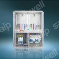 预付费电表箱体 单相2户透明电表箱 PC塑料上下结构电表箱
