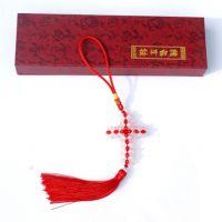 批发 基督教礼品 工艺品 十字架串珠车挂-红白色 汽车挂件