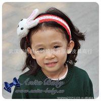 MISS COCO 韩国儿童发饰 小额混批 波点法国兔发箍 1012