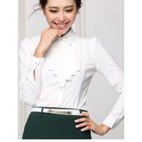 登封夏季短袖衬衣套装全棉男女款商务休闲职业制服定做实拍图款式自选