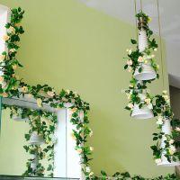 林林仿真花挂壁假花藤蔓装饰花藤墙壁挂花空调管道塑料藤条促销