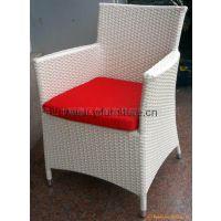休闲户外家具 藤椅铝藤椅 咖啡椅特色创意白色编藤高档西餐厅椅子餐椅