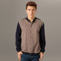 2014法艾龙新款可外穿休闲加绒开衫 男士超柔绒保暖套装一件代发