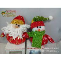 圣诞布艺老人 圣诞雪人 圣诞树布艺挂件 厂家直销 混批采购