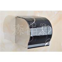 森佳艺BG心形 金叶 封闭方形不锈钢纸巾盒 手纸盒 浴室专业纸盒