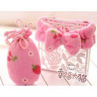 【荐】卡通樱桃草莓毛绒暖手宝 卡通暖手迷你小壶 可爱卡通热水袋