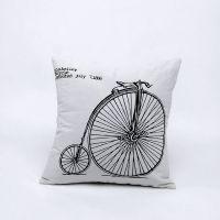 创意zakka 英伦风自行车 抱枕 汽车沙发靠垫 家居摆件 E0103