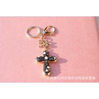 批发 基督教礼品 工艺品 钥匙扣 十字架挂件-黑色底纹