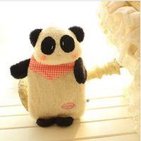 1000毫升立体熊猫热水袋 可爱熊猫控 冲水热水袋/暖水袋 暖手宝