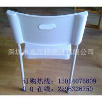 嘉思特家具P-204 便宜的餐厅用椅 白色塑料椅子