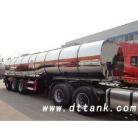 40吨三轴液态硫磺加热保温不锈钢槽罐车