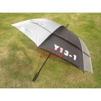 供应全纤维双层自动高尔夫广告促销伞