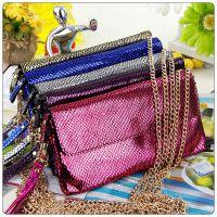 5101-1小款真皮女包 韩版时尚手拿包 蛇纹皮女士钱包卡包 小挎包