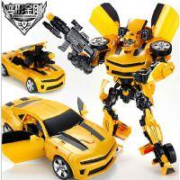 爆款6699 变形金刚 4 大黄蜂儿童益智玩具机器人玩具 带音乐灯光