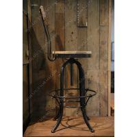 美式乡村复古铁艺椅 做旧酒吧餐桌椅仿古咖啡厅吧椅子餐椅实木