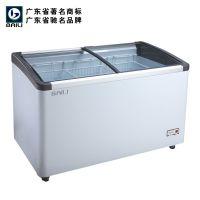 供应百利牌 WD-458Y 低温弧面卧式冷藏展示柜 超市冷柜 便利店冰柜