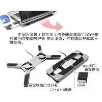 供应笔记本电脑散热器折叠式迷你小强便携USB散热架静音垫电脑配件批