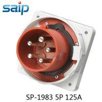 供应赛普5芯电缆工业插座 防水插头 125A 400V 暗装插头 SP1983