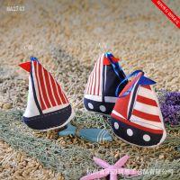 布艺挂件 小船壁挂 创意家居饰品 地中海船挂饰礼物礼品MA2743A-C