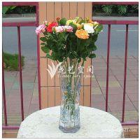 重信誉重品质 单枝2头玫瑰茶花 仿真玫瑰假花 仿真绢花玫瑰