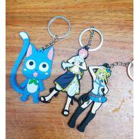 动漫卡通妖精的尾巴钥匙扣人物硅胶公仔包挂件 创意礼品纪念品