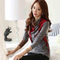2014秋冬新款女装上衣韩版修身打底衫纯棉t恤女长袖 一件代发