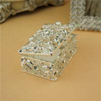 创意小礼物迷你首饰盒 金属镶钻珠宝盒 送给她 创意家居礼品批发